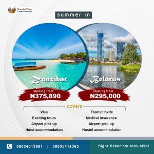 Summer Vacation - Zanzibar or Belarus!